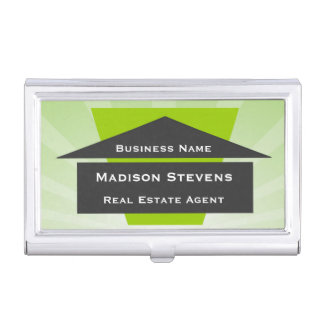 Real Estate House Logo Business Card Holder