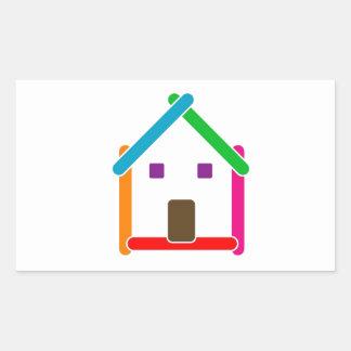 Real estate house rectangular sticker