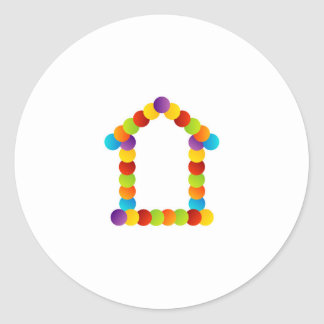 Real estate house round sticker