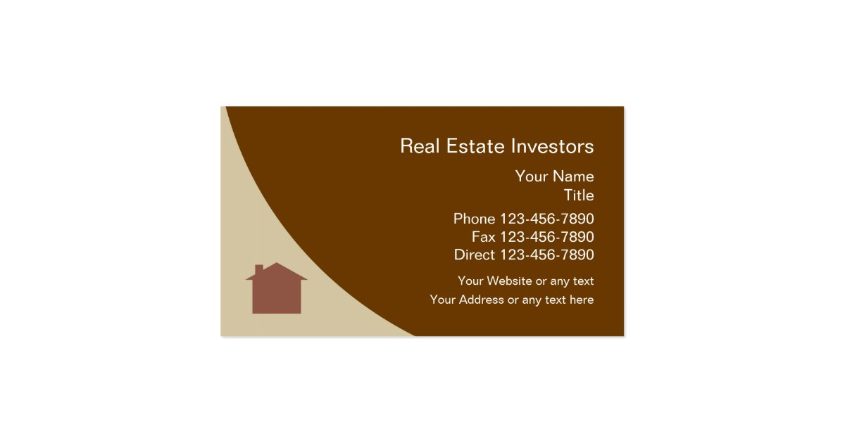 Real estate investor pack of standard business cards zazzle for Zazzle business card
