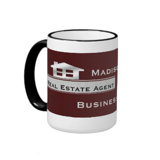 Real Estate Maroon Silver Mugs