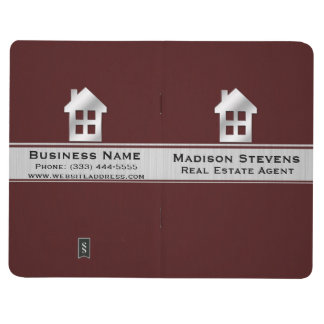 Real Estate Maroon Silver Pocket Journal