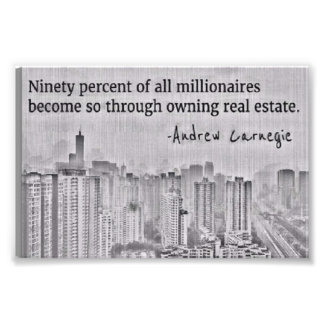Real Estate Millionaire Investor Print 90% Rule