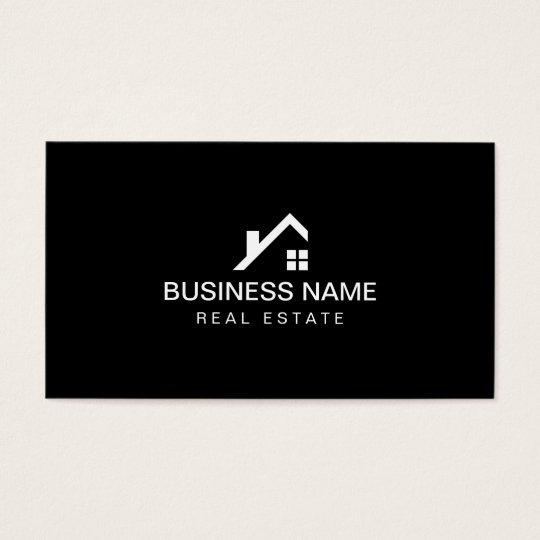 Real Estate Modern House Logo Professional Business Card