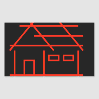 real estate or architecture firm rectangular sticker