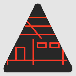 real estate or architecture firm triangle sticker