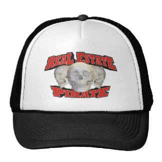 Real Estate Pirate Trucker Hats