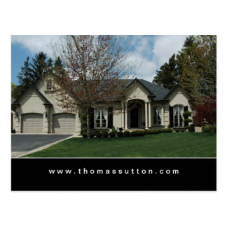 Real Estate Postcards Beige Stucco House 2