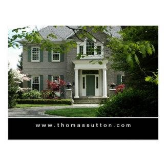 Real Estate Postcards Green Formal House