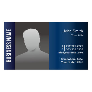 Real Estate Professional Photo Modern Blue Metal Pack Of Standard Business Cards