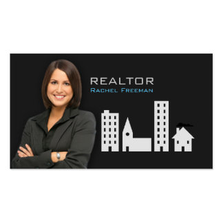 Real Estate Realtor Property Manager Building City Business Cards