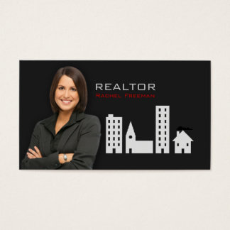 Real Estate Realtor Property Manager Building City Business Card