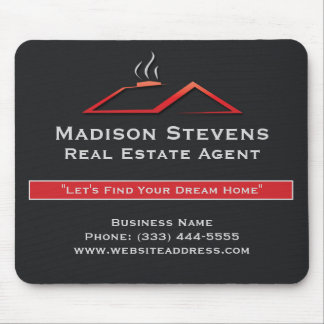 Real Estate Red Rooftop Mouse Pad