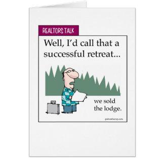 Real Estate Retreat Greeting Card