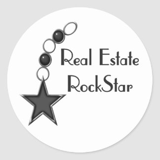 Real Estate Rock Star Stickers
