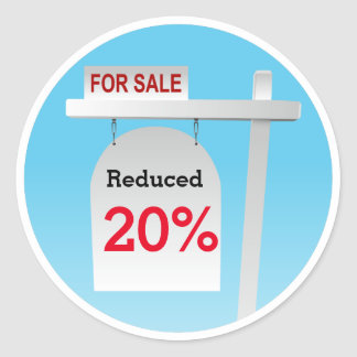 Real Estate Sign Discount Sticker