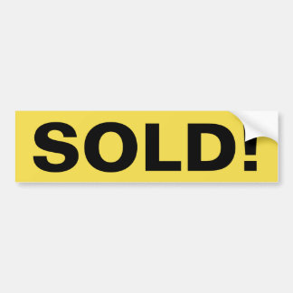 Real Estate Sign SOLD! sticker Bumper Sticker