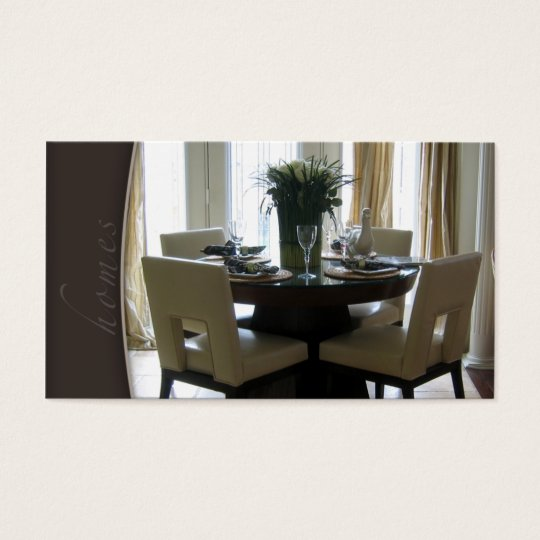 Real Estate Staging Dining Room Business Card