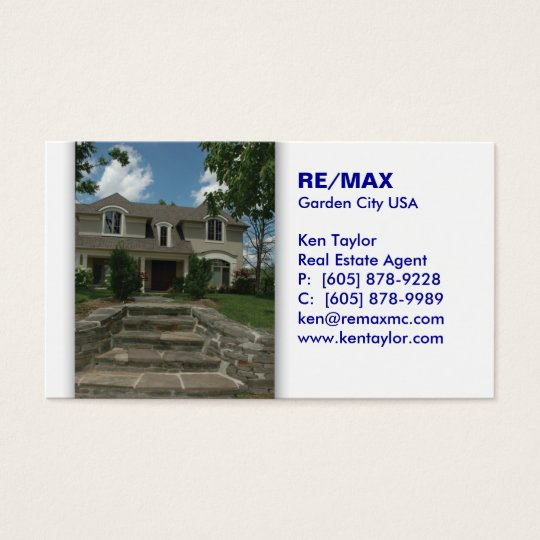 Real Estate Stairs House Business Card