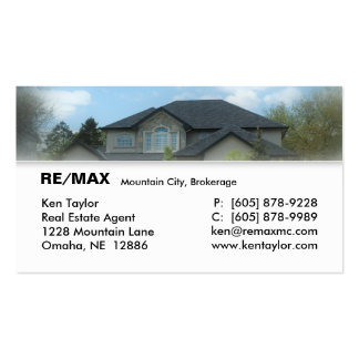 Real Estate Stucco House Business Card