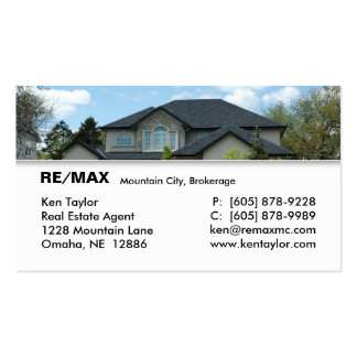 Real Estate Stucco House Business Card 2