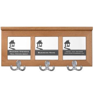 Real Estate White Gray Stripe Coat Rack