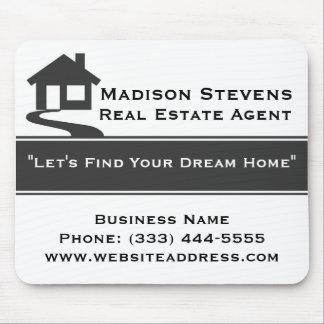 Real Estate White Gray Stripe Mouse Pad