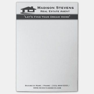 Real Estate White Gray Stripe Post-it® Notes Post-It Note