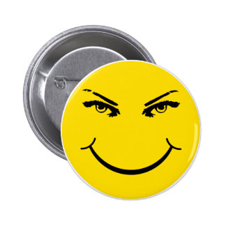 Real Eyes Smiley Face 6 Cm Round Badge