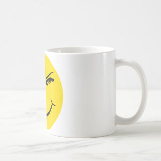 Real Eyes Smiley Face Classic White Coffee Mug