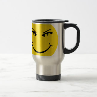 Real Eyes Smiley Face Stainless Steel Travel Mug