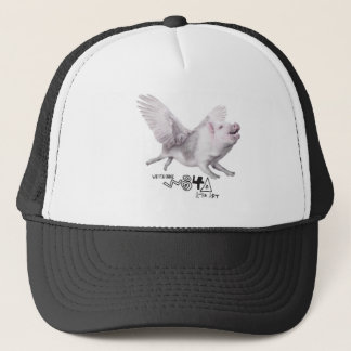 Real Flying Pig Popular Gift When Pigs Fly w Wings Trucker Hat