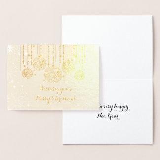 Real Foil Christmas Ornaments Foil Card