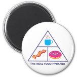 Real Food Pyramid - Coffee, Bacon, Doughnuts Magnets