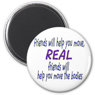 Real friends 6 cm round magnet