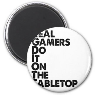 Real Gamers black 6 Cm Round Magnet
