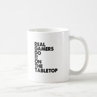 Real Gamers black Coffee Mug
