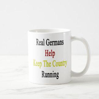 Real Germans Help Keep The Country Running Basic White Mug