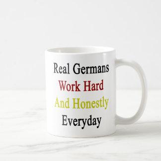 Real Germans Work Hard And Honestly Everyday Basic White Mug