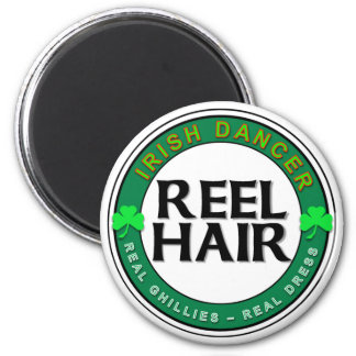 Real Ghillies, Real Dress, REEL HAIR 6 Cm Round Magnet