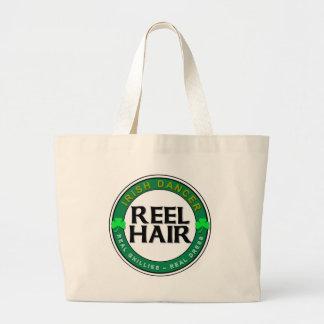 Real Ghillies, Real Dress, REEL HAIR Large Tote Bag