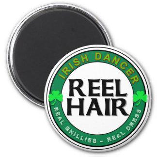 Real Ghillies, Real Dress, REEL HAIR Fridge Magnets