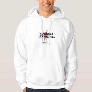 Real Girls Kick and Yell Hoodie Sweatshirt