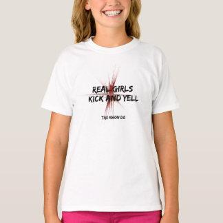 Real Girls Kick and Yell Tae Kwon Do T-Shirt