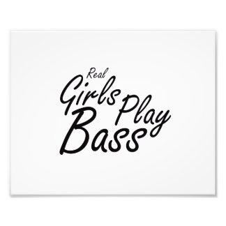Real Girls Play Bass black Photo