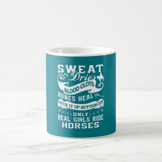 Real Girls Ride Horses Basic White Mug