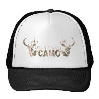 REAL GIRLS WEAR CAMO TRUCKER HATS