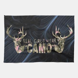 REAL GIRLS WEAR CAMO TEA TOWEL