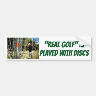 """""""Real Golf"""" is Played with DISCS sticker"""