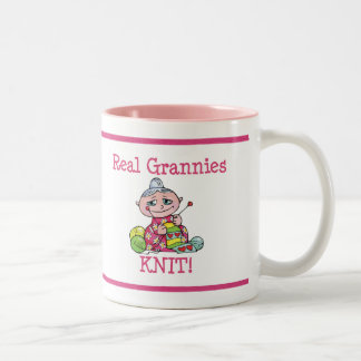 Real Grannies KNIT! Two-Tone Coffee Mug